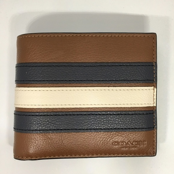 7466dd5589868 Coach Men 3-in-1 Varsity Leather Wallet
